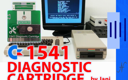1541 Diagnostic Cartridge by Jani per Commodore 64 , allineamento drive, test, performance, alignment