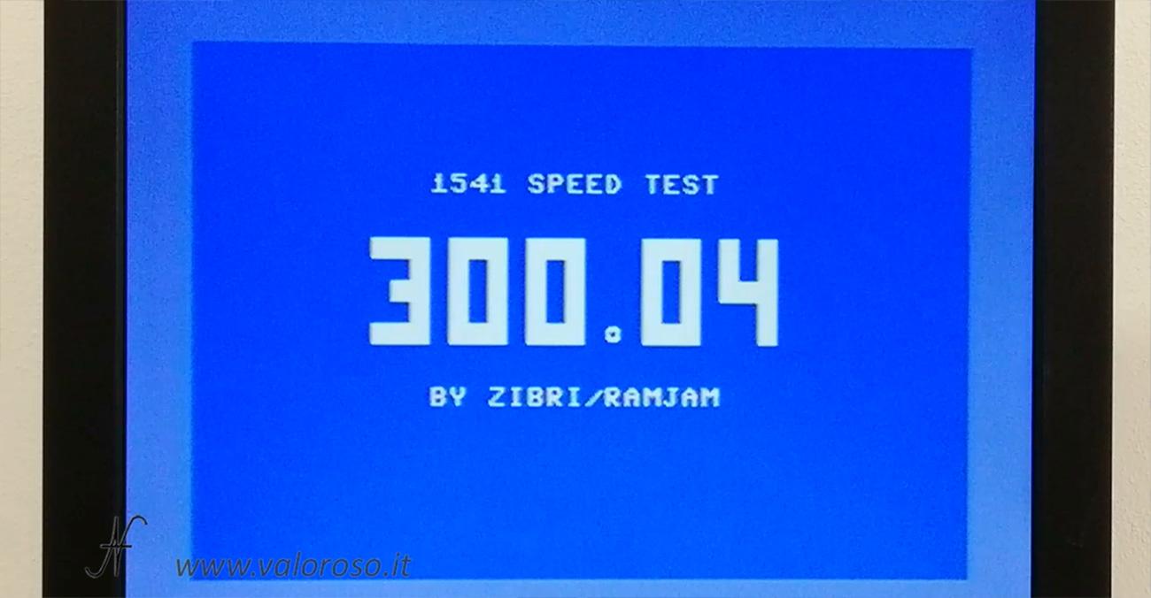 1541 Speed Test by Zibri, velocita rotazione Commodore 1541 300 RPM