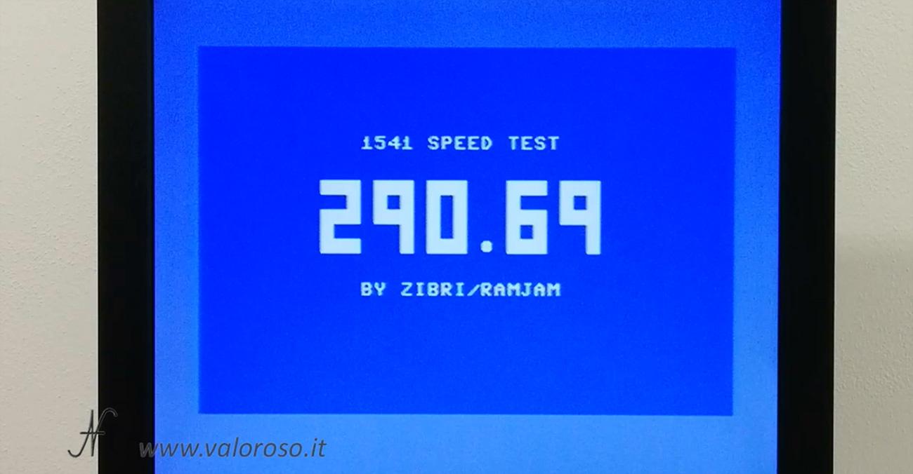 1541 Speed Test by Zibri, RPM, misurare la velocita di rotazione del floppy disk drive 1541