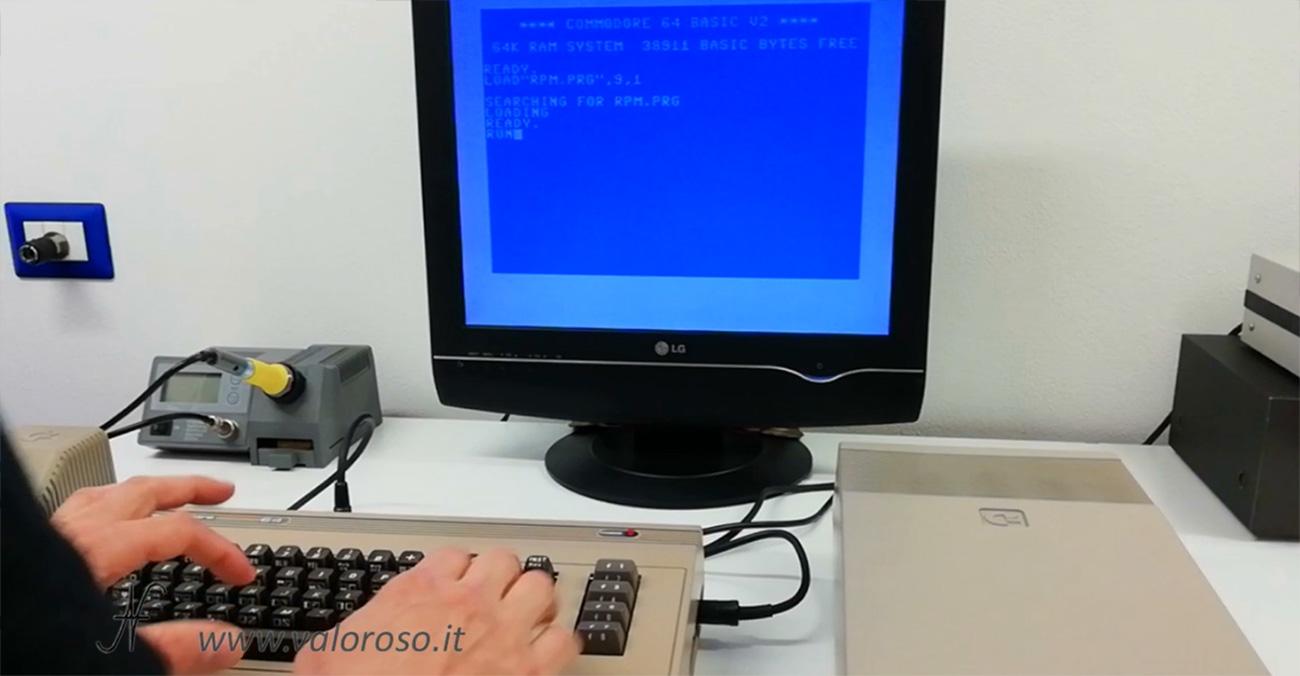 1541 Speed Test by Zibri, regolare calibrare Commodore 1541, caricare rpm.prg