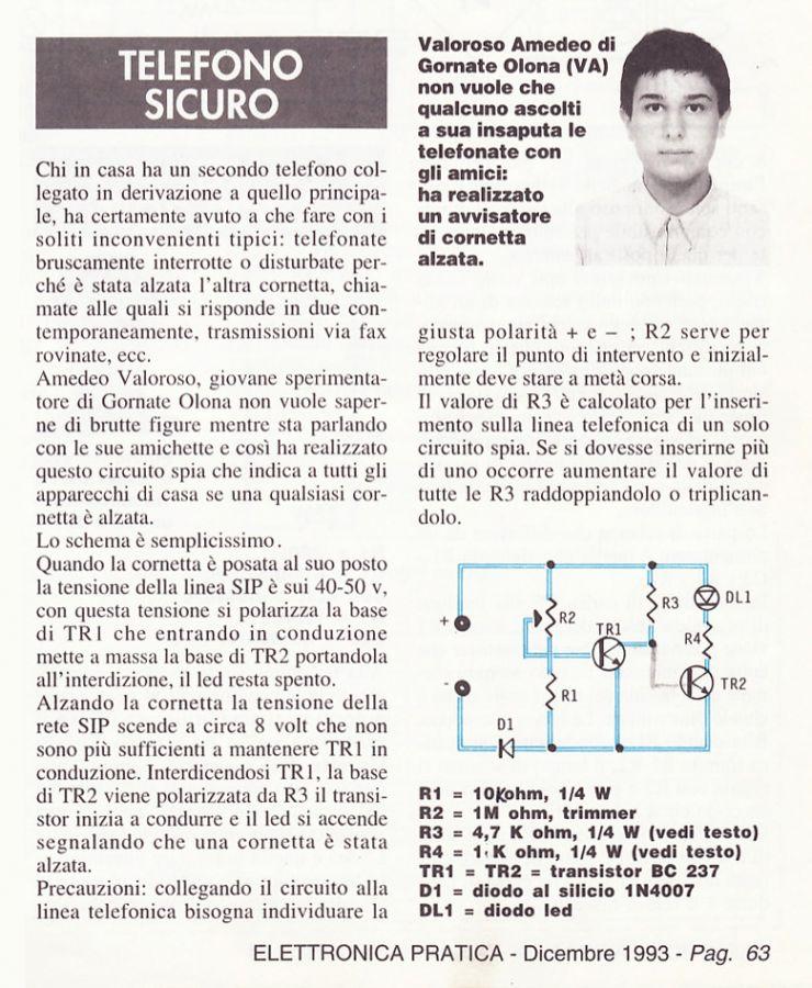 1993, Amedeo Valoroso articolo rivista Elettronica Pratica