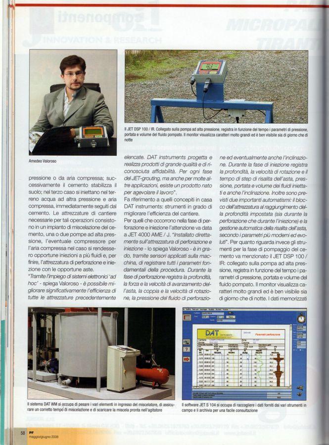 2008, Amedeo Valoroso, intervista rivista PF, n3