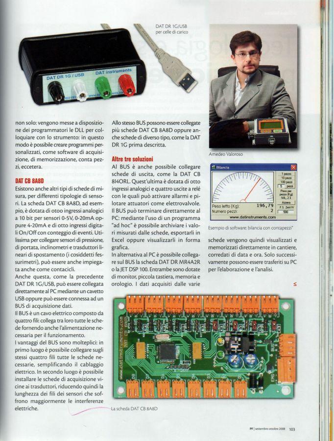 2008, Amedeo Valoroso, intervista rivista PF, n4