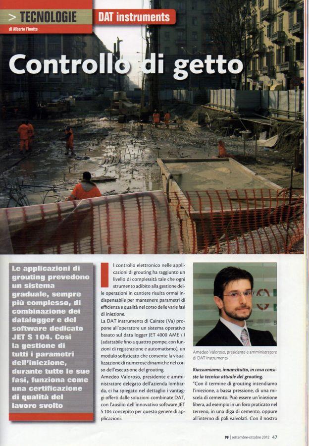 2012, Amedeo Valoroso, intervista rivista PF, n4