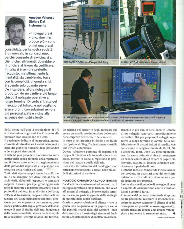 2013, Amedeo Valoroso, intervista rivista Il Nuovo Cantiere, n3