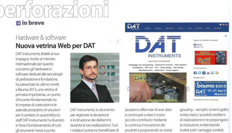 2013, Amedeo Valoroso, intervista rivista Macchine Edili, n4