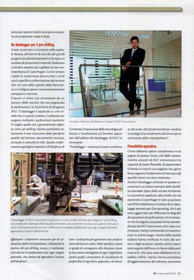 2013, Amedeo Valoroso, intervista rivista PF, n2