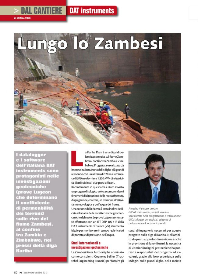 2013, Amedeo Valoroso, intervista rivista PF, n3
