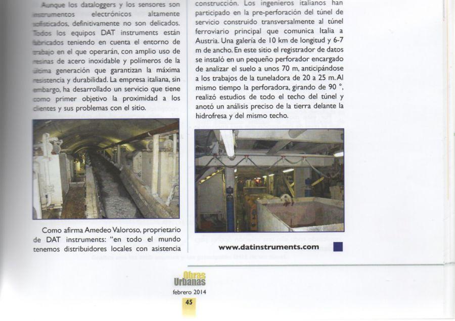 2014, Amedeo Valoroso, intervista rivista Obras Urbanas, n43