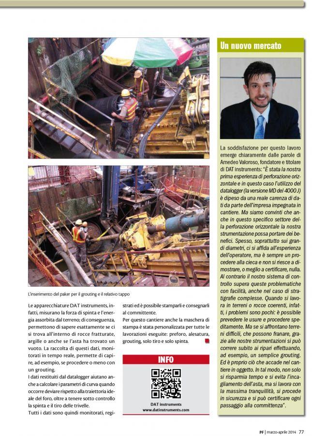 2014, Amedeo Valoroso, intervista rivista PF, n2