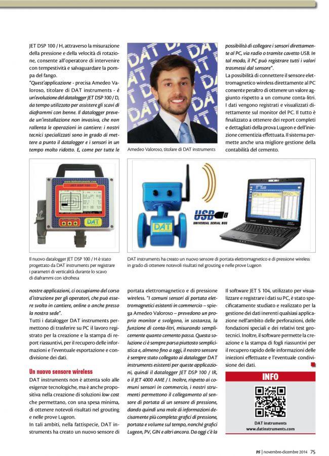 2014, Amedeo Valoroso, intervista rivista PF, n4