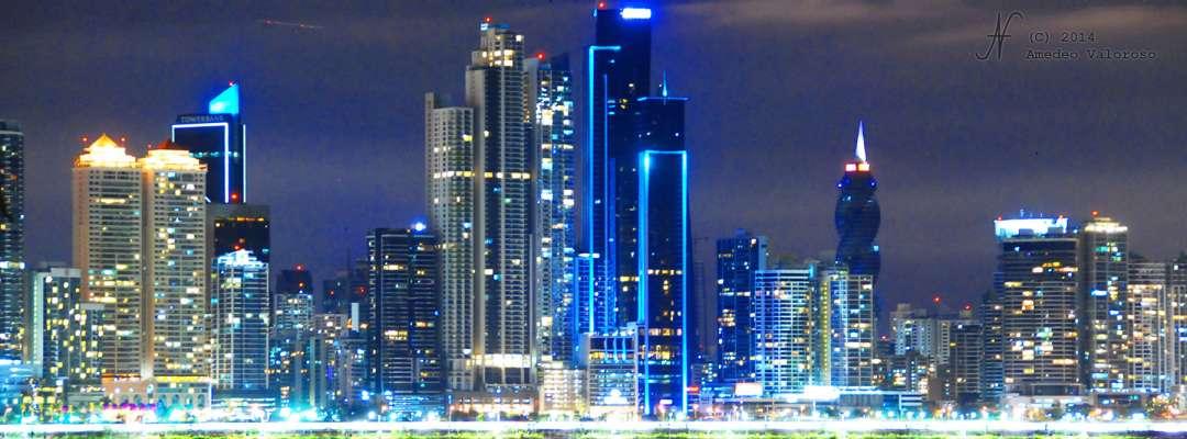 2014, Amedeo Valoroso, by night, city, skyscrapers, Panama, Panama City, skyscrapers