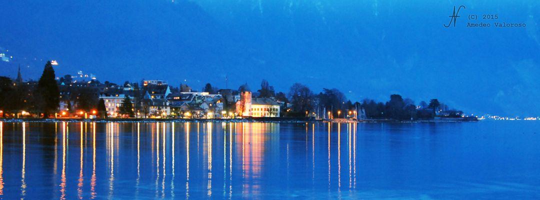 2015, Amedeo Valoroso, by night, Vevey, Lake lights, Switzerland, Vaud