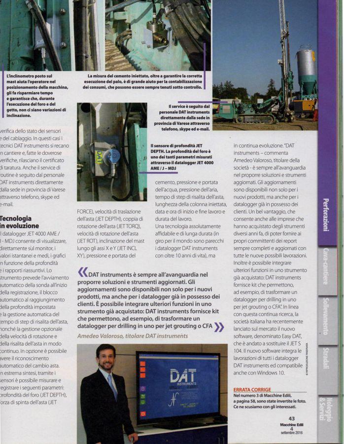 2016, Amedeo Valoroso, intervista rivista Macchine Edili, n4
