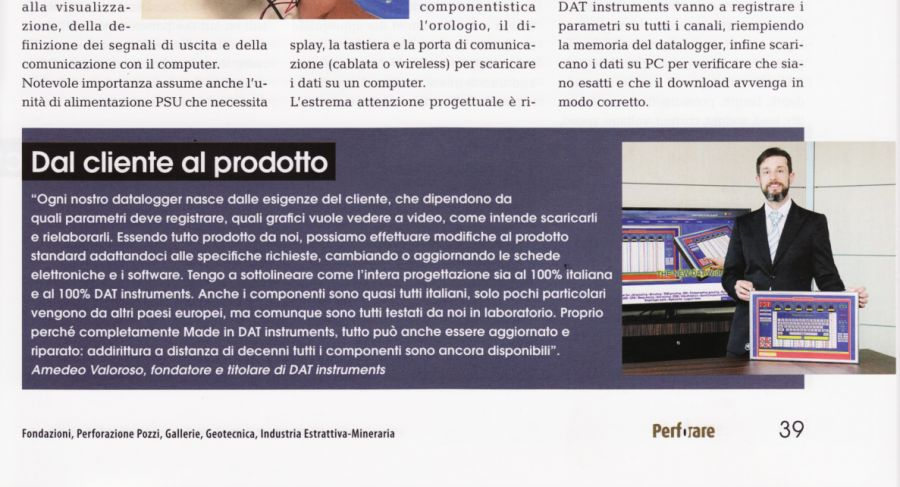 2018, Amedeo Valoroso, intervista rivista Perforare, n2
