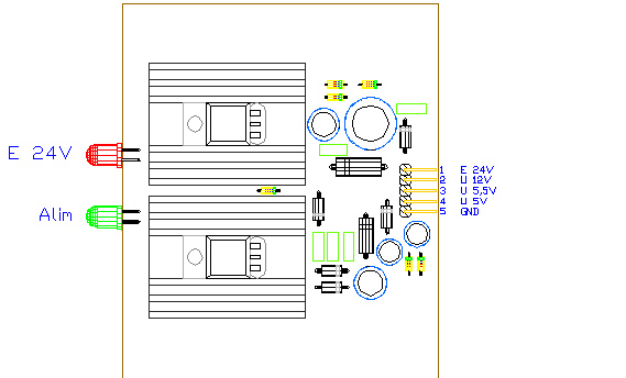 3CTRALIM, drawing by Amedeo Valoroso, filtered power supply, electronic control system for tunnelling lifting equipment