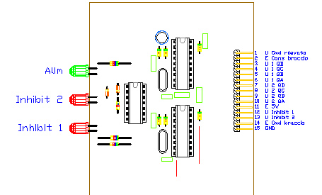 3CTRDEC, drawing by Amedeo Valoroso, command decoder, electronic control system for tunnelling lifting equipment