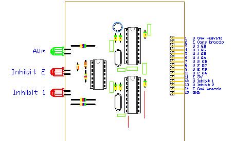 3CTRDEC, drawing by Amedeo Valoroso, decodificatore dei comandi, sistema di controllo per sollevatori per gallerie