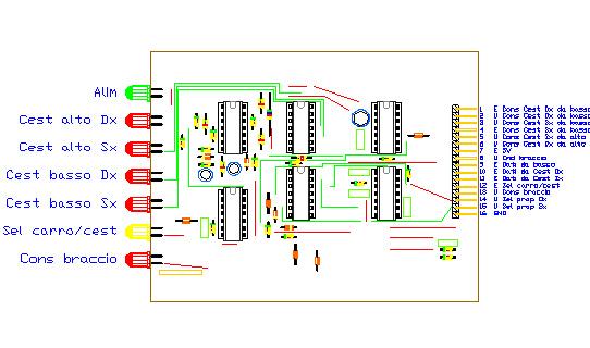3CTRSEL, drawing by Amedeo Valoroso, selettore trasmettitore comandi, sistema di controllo per sollevatori per gallerie