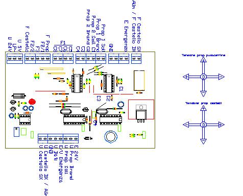 3CTRTC, drawing by Amedeo Valoroso, command transmitter, trasmettitore dei comandi, sistema di controllo per sollevatori per gallerie