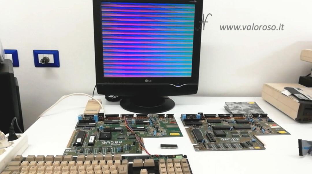 Amiga 500 DiagROM A500, repair strange screens lines start power