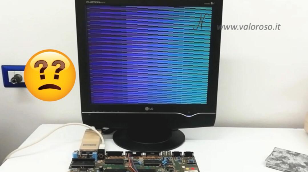 Amiga 500 DiagROM, strange screens lines start powering