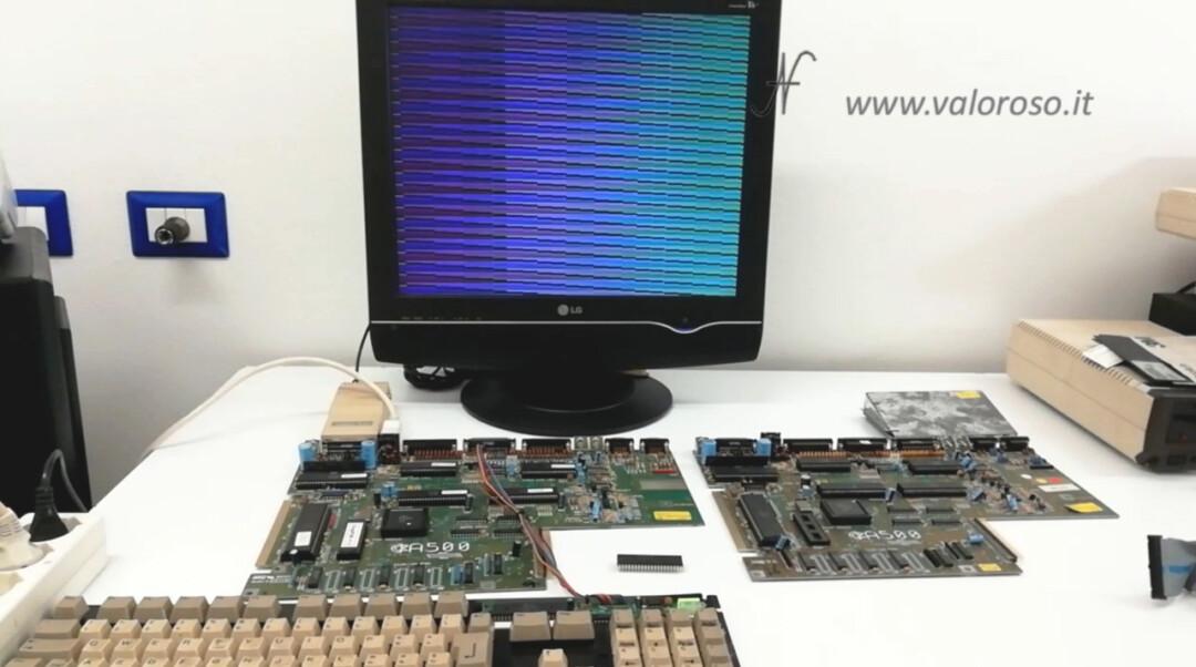 Amiga 500 DiagROM tastiera floppy disk drive test prova