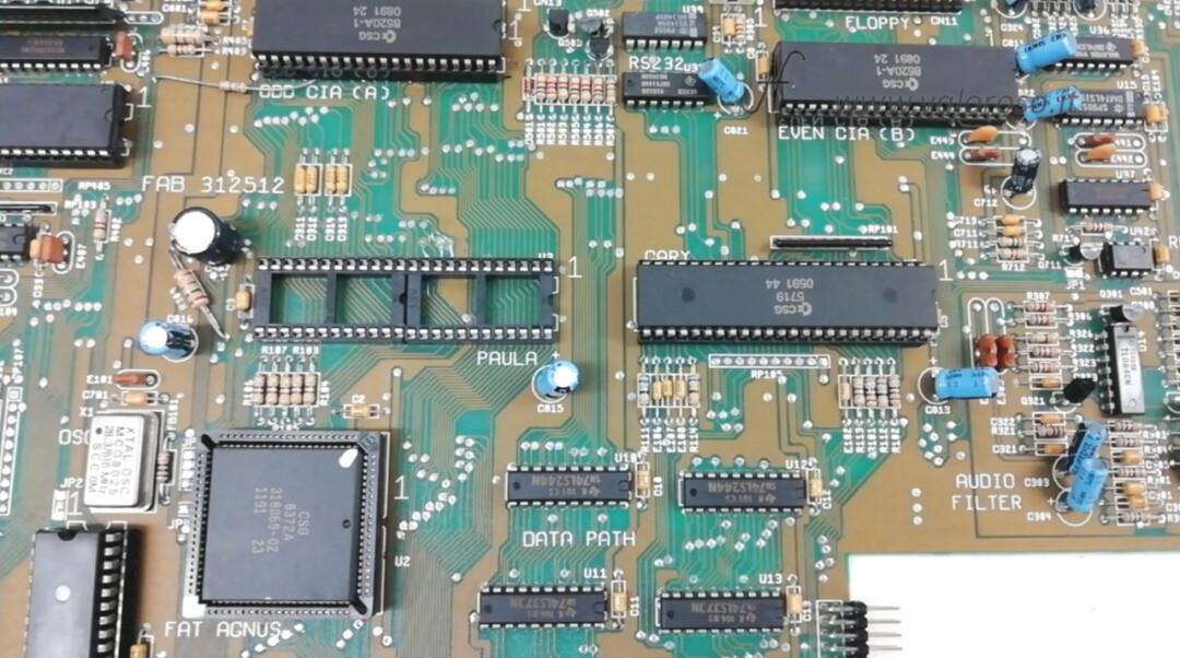 Amiga 500 PCB posizionamento zoccolo 48 poli circuito stampato 24, tacca di riferimento