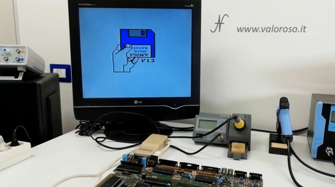 Amiga 500 riparazione e prova, funziona Amiga Work bench V1.3