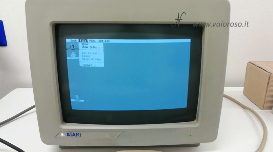 Atari 1040 ST Atari ST GEM Graphics Environment Manager TOS The Operating System Operating System File Menu