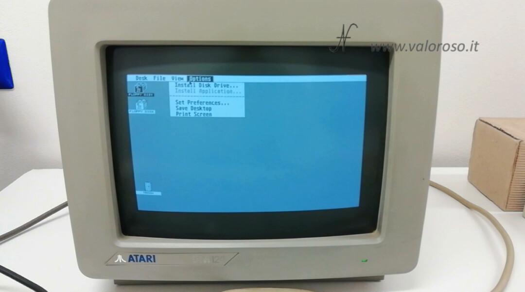 Atari 1040 ST Atari ST GEM TOS operating system menu options
