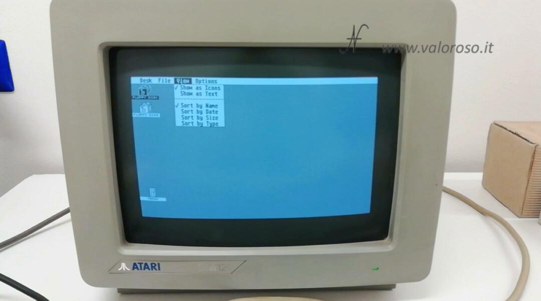 GEM Graphics Environment Manager TOS The Operating System Atari 1040 ST Atari ST GEM TOS operating system menu view