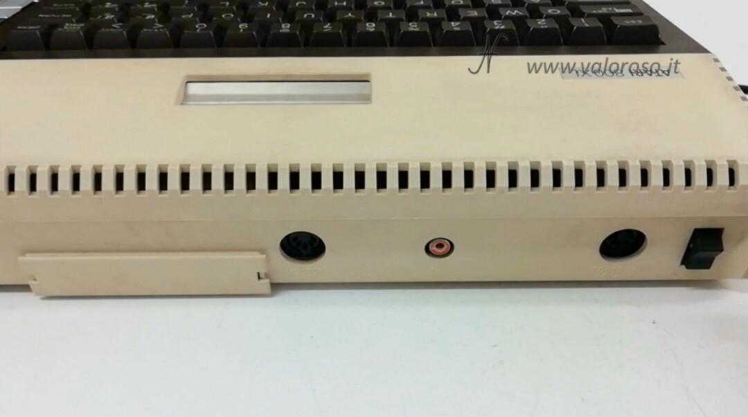 Atari 800XL retro rear DIN connectors, monitor, power, switch