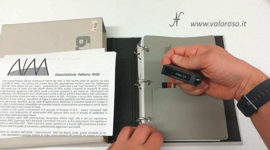 Atari ST software Steinberg PRO-24 PRO24 MIDI recorder music binder disc key binder