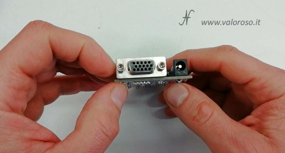 C128, RGBI CGA to VGA port interface converter adapter diy kit, dsub 15 poles high density