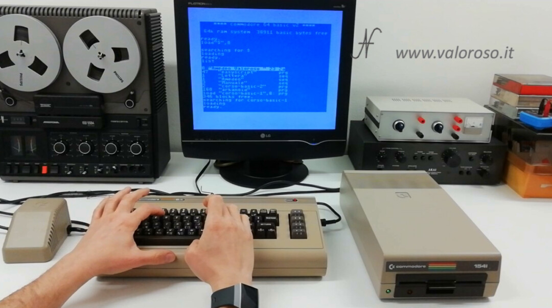 "CBMXfer 110 1.10 CBM-Transfer prova file copiato XUM 1541 con Commodore 64, LOAD""$"",8: LIST"