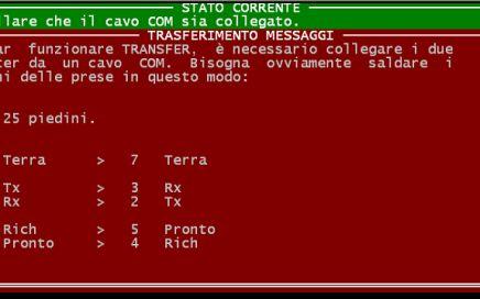 Amedeo Valoroso, COM TRANSFER, messages RS232, GWBASIC, DOS, 1992