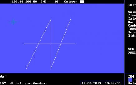 COMPILAT, drawing software, Amedeo Valoroso, GWBASIC, AV Logo