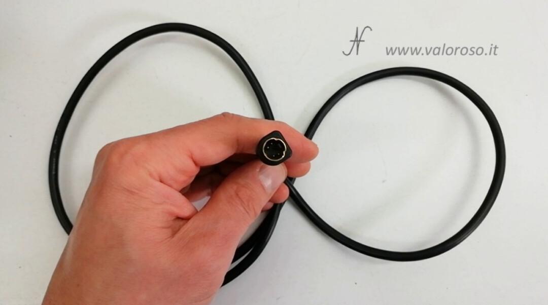 Cavo S-Video stampato connettore miniDIN 4 poli circolare S-Video rotondo