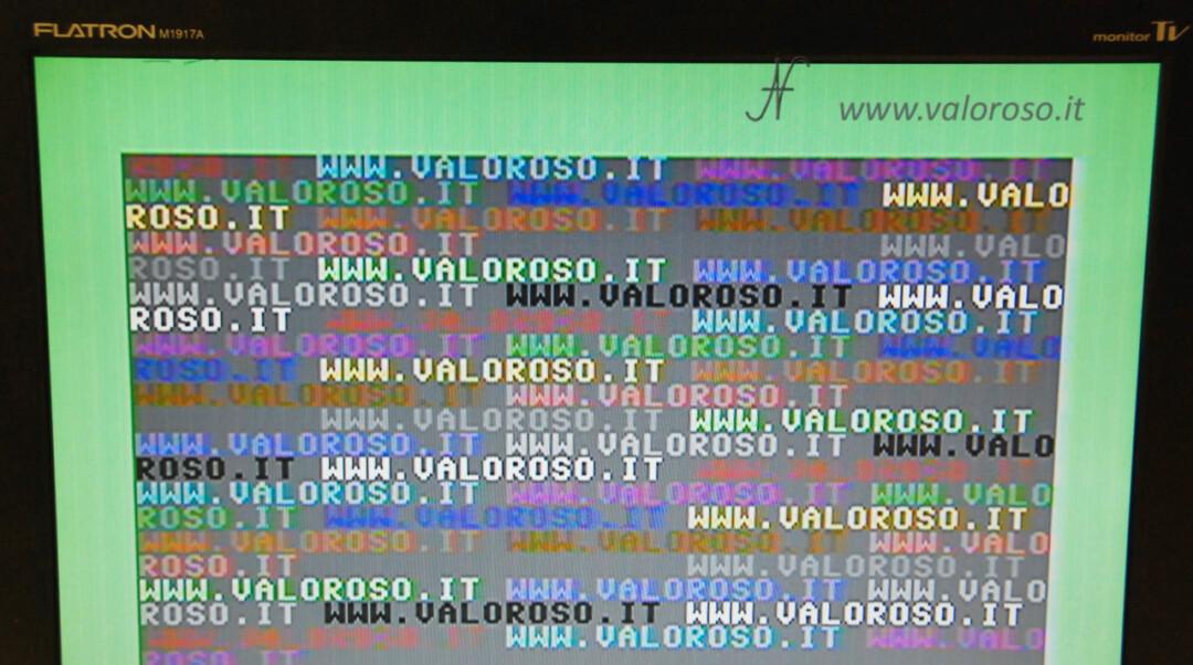 Cavo S-Video per migliorare la qualità delle immagini del Commodore 128 sulle TV LCD plasma LED, immagine si vede bene