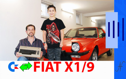 Centralina per Fiat X1/9 con il Commodore 64, user port accensione avviamento, Bertone X19
