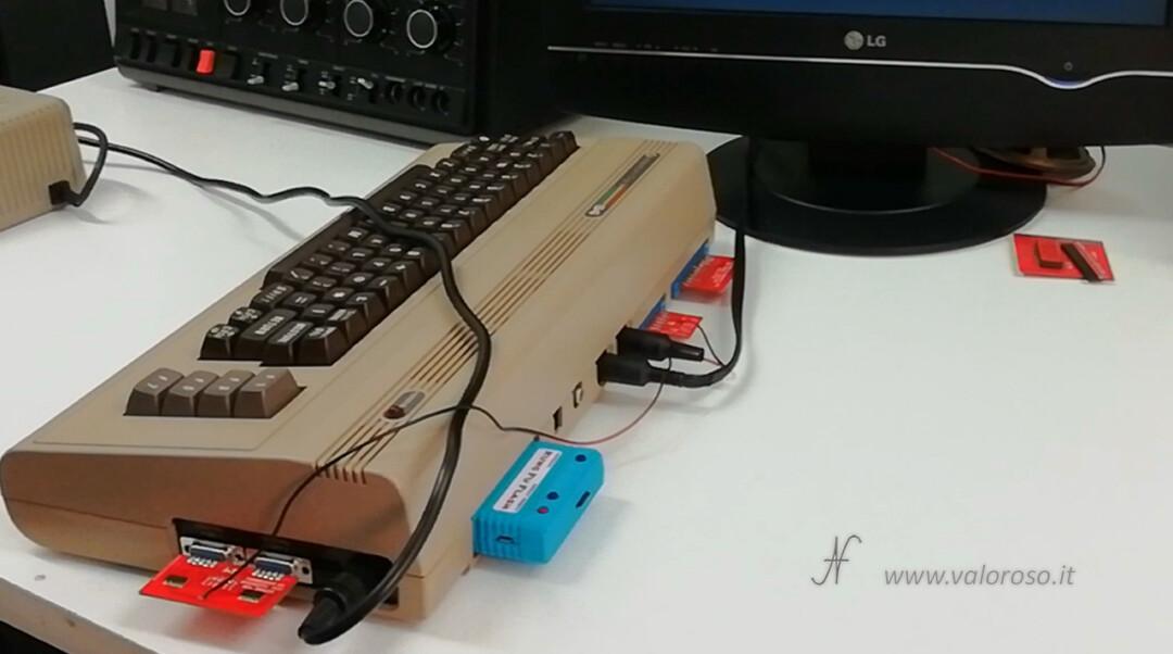 Come riaccendere il Commodore 64 test diagnostico cartuccia 586220 C64 con harness connettori collegati, Kung Fu Flash, KFF, CRT