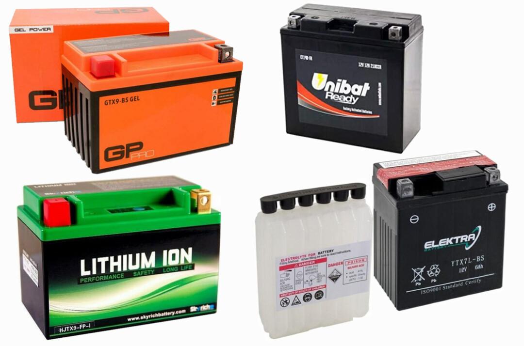 Come scegliere la batteria della moto, scooter, piombo, gel power, acido solforico, litio ioni, LiFePO4, LFP, ermetica, senza manutenzione, quale batteria scegliere per la motocicletta