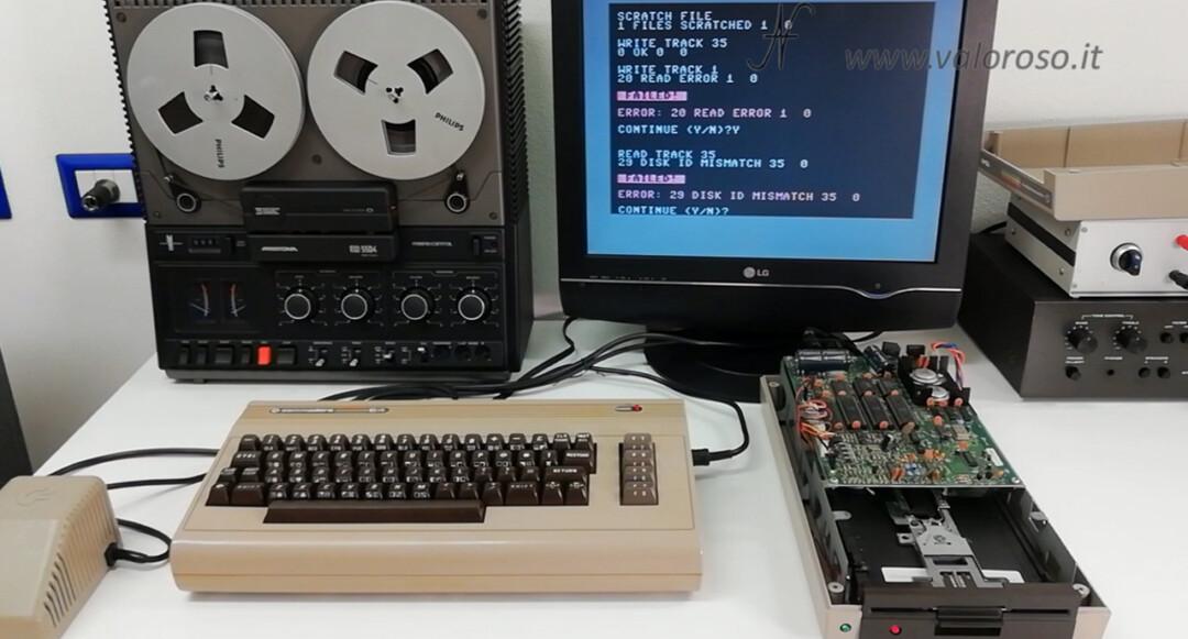 Commodore 1541 154I Diagnostic Cartridge by Jani performance test difettoso errore failed error, mismatch, read error