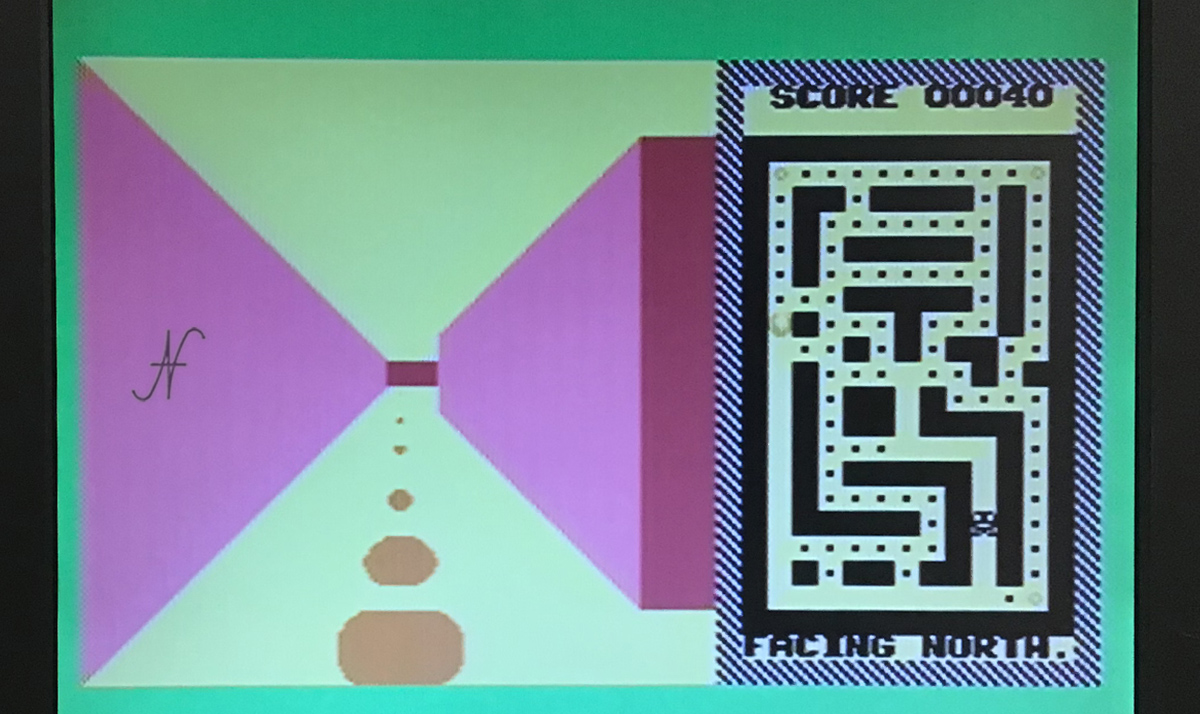 Commodore 16, videogame pacman 3d