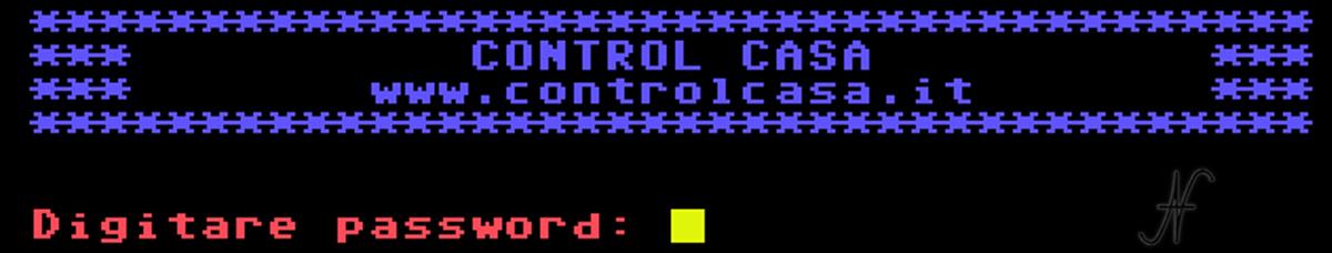 Domotica con il Commodore, 64, collegamento a Control Casa