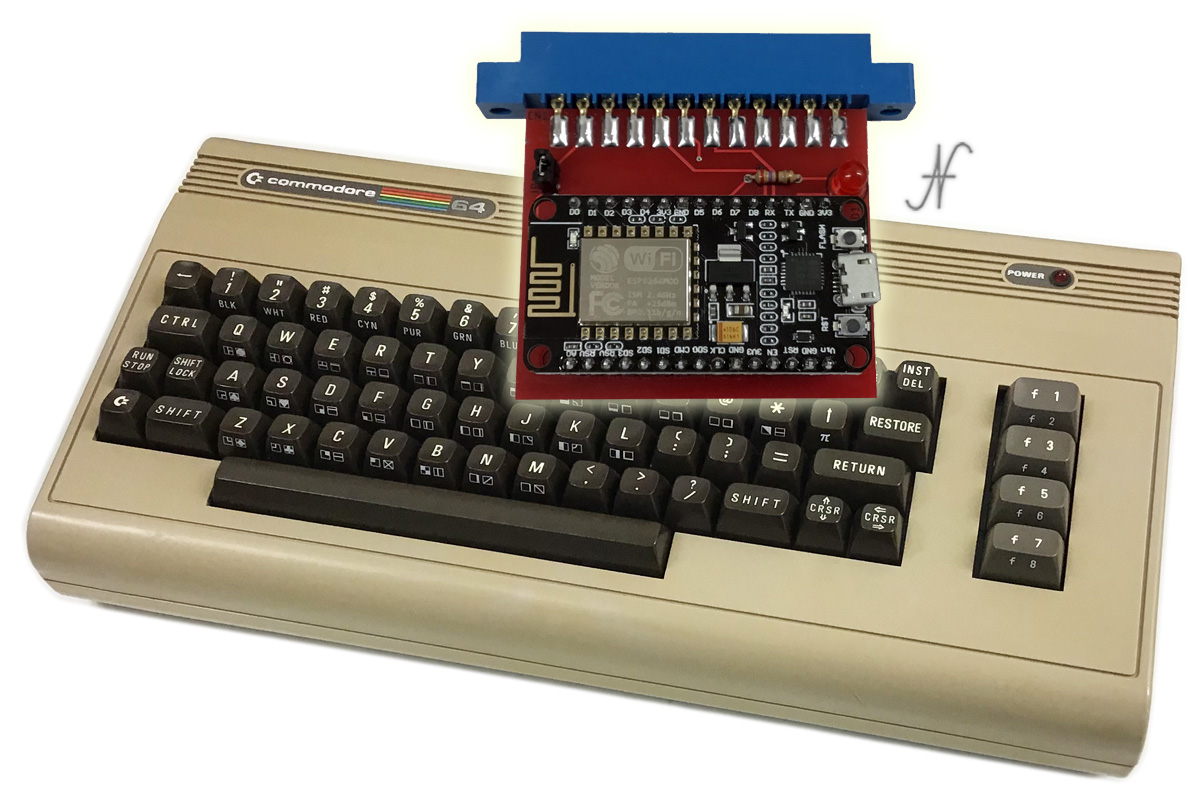 Commodore 64, modem wifi, bbs, internet, nodemcu