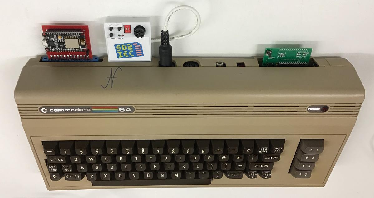 Modem wifi per Commodore 64, fastload, sd2iec, emulatore floppy, internet