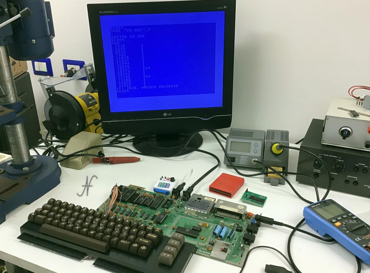 Commodore 64, programma di test chip memoria RAM, MT4264-15, MT4264-20, 4164-2, HM4864P-2, M3764-15RS