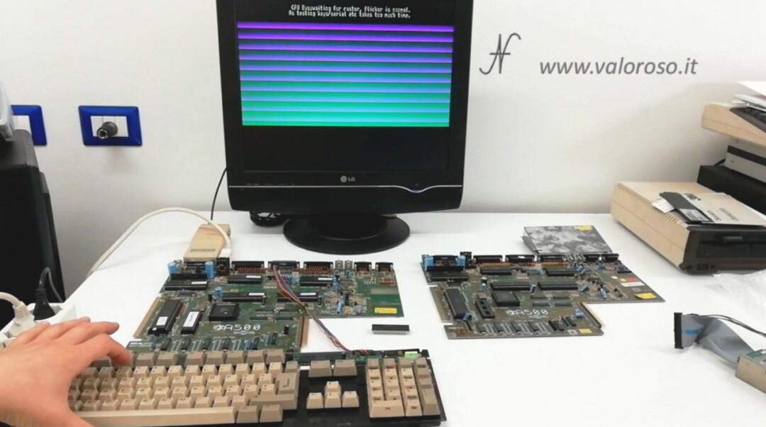 Commodore A500 Amiga 500 DiagROM, button 5 video test